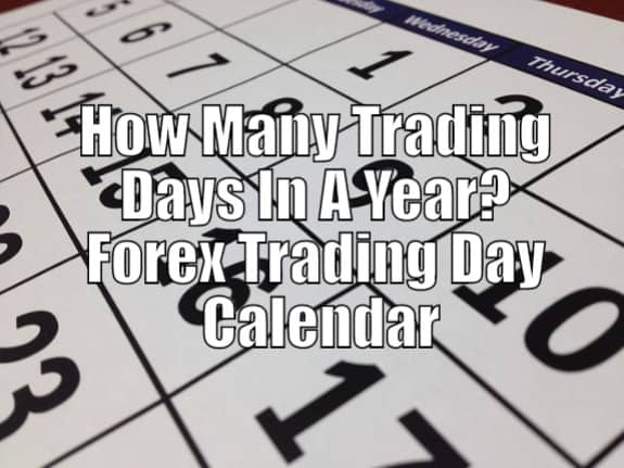 How many forex trading days in a year